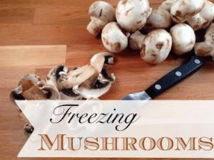 Freezing Mushrooms