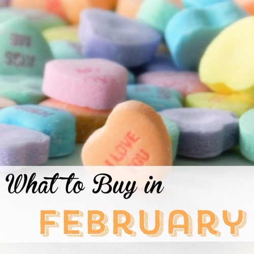 What to buy in February Frugal