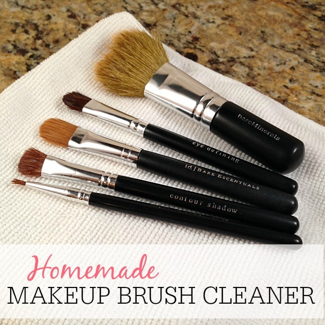Homemade makeup brush cleaner