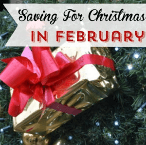 Saving for Christmas in February