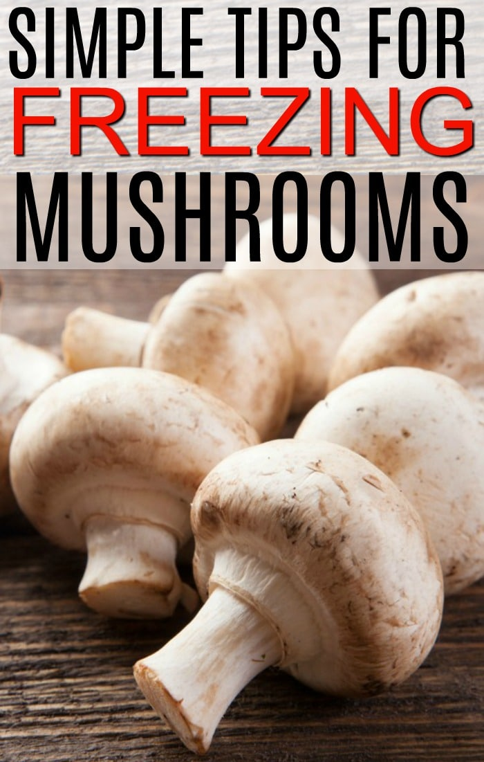 freezing mushrooms
