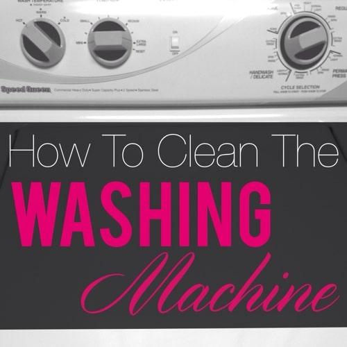 how do i clean my washing machine