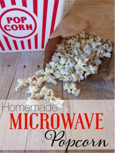 How to make Homemade Microwave Popcorn, Brown Bag