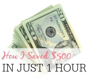How I Saved Over $500 in Just 1 Hour