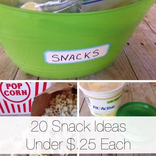 20 Snack Ideas Under $.25 Each