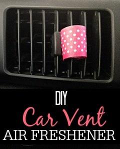 DIY Car Vent Air Freshener