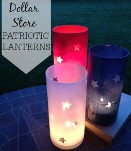 Dollar Store Patriotic Lanterns