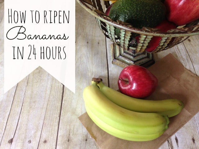 How To Ripen Bananas In 24 Hours