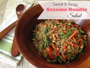 Sweet and Tangy Sesame Noodle Salad