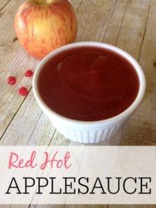 Red Hot Applesauce Recipe