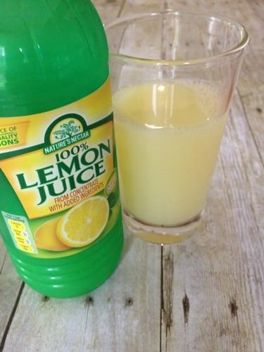 cup of lemon juice as a DIY rust remover