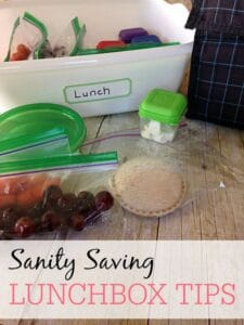 Sanity Saving Lunchbox Tips