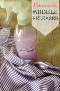 homemade wrinkle releaser with fabric softener