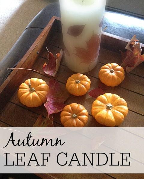 DIY Autumn Leaf Candle