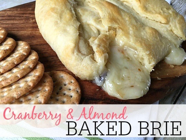 cranberry and almond baked brie