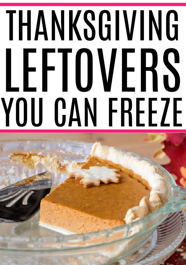 thanksgiving leftovers you can freeze