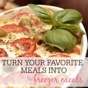 meals into freezer meals