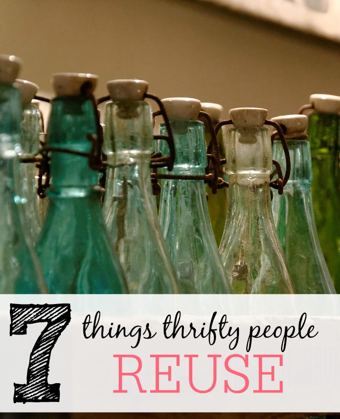 things thrifty people reuse