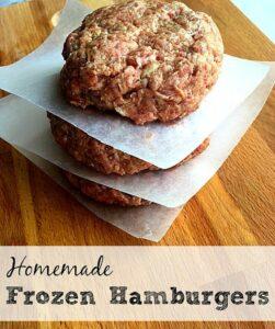 Homemade Frozen Hamburgers