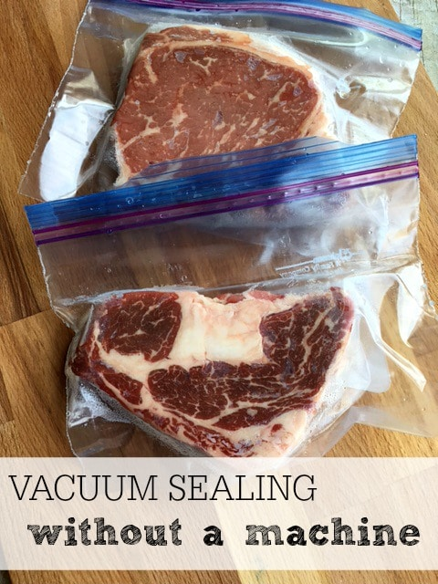 vacuum sealing without a machine