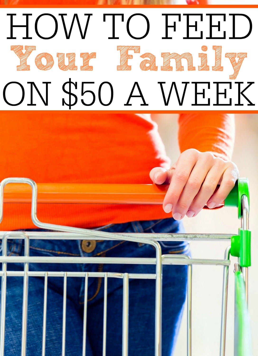 See how to spend $50 a week on groceries! This family does it and often goes BELOW $50 a week. With these simple tips you can be saving your family more.