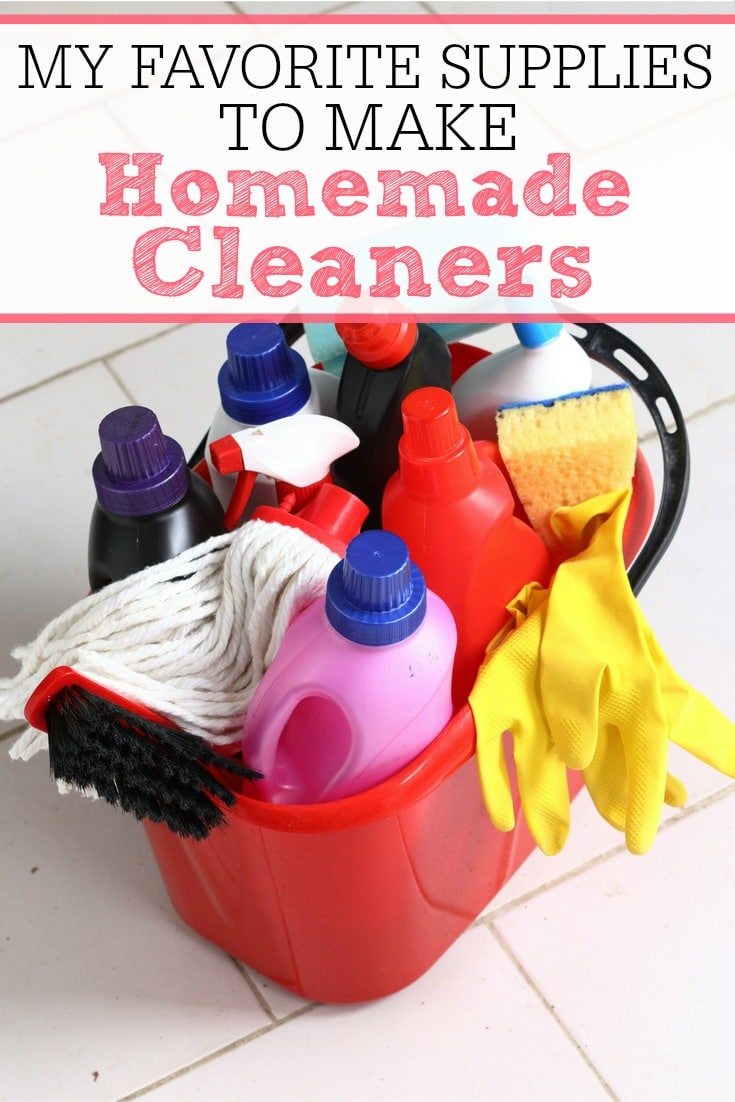 My Favorite Supplies To Make Homemade Cleaners