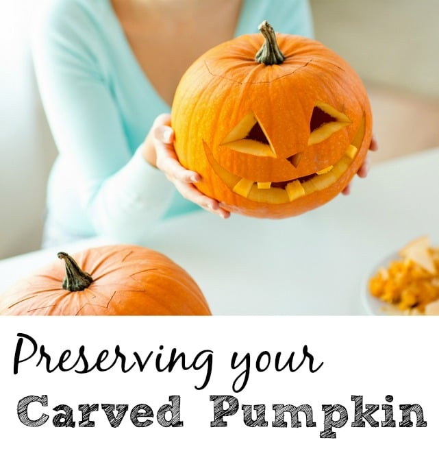 preserve a carved pumpkin