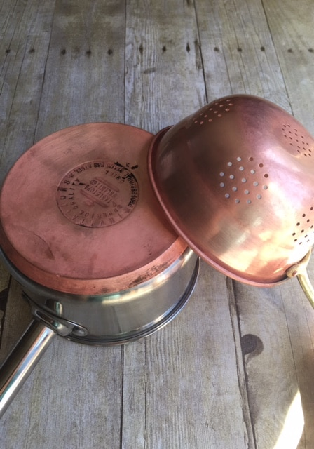 clean copper pots
