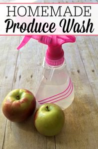 Homemade Produce Wash