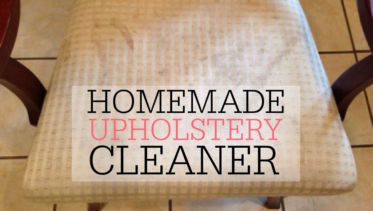 Diy Upholstery Cleaner Frugally Blonde