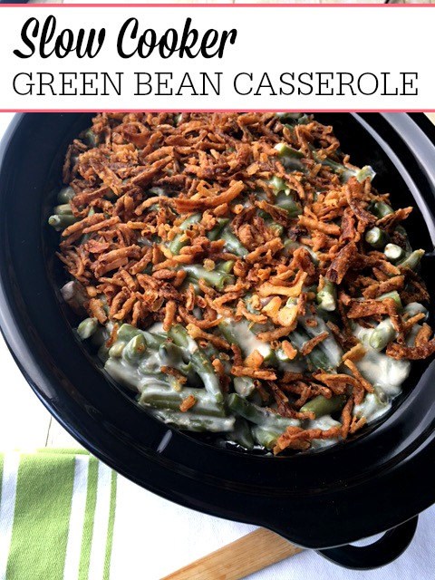 Slow Cooker Bacon Green Bean Casserole November 1, by Sarah Olson 20 Comments Bacon makes everything better including this Slow Cooker Bacon Green Bean Casserole.