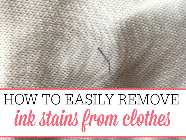 How to remove ink stains from clothes frugally blonde for Remove oil stains from shirt