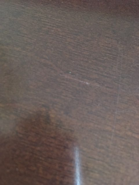 how to fix deep scratches in wood table