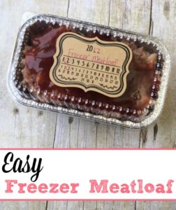 Easy Freezer Meatloaf