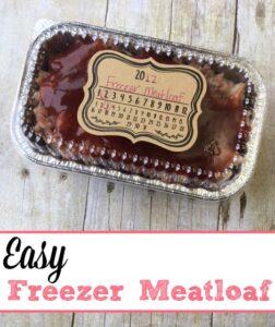 Easy Freezer Meatloaf