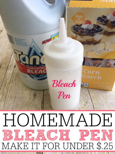 homemade bleach pen