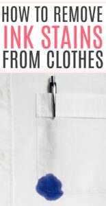remove ink stain from clothes