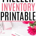 freezer inventory printable pinterest