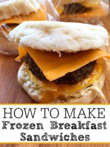 How To Make Frozen Breakfast Sandwiches
