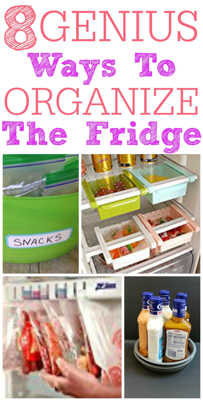 genius ways to organize your fridge