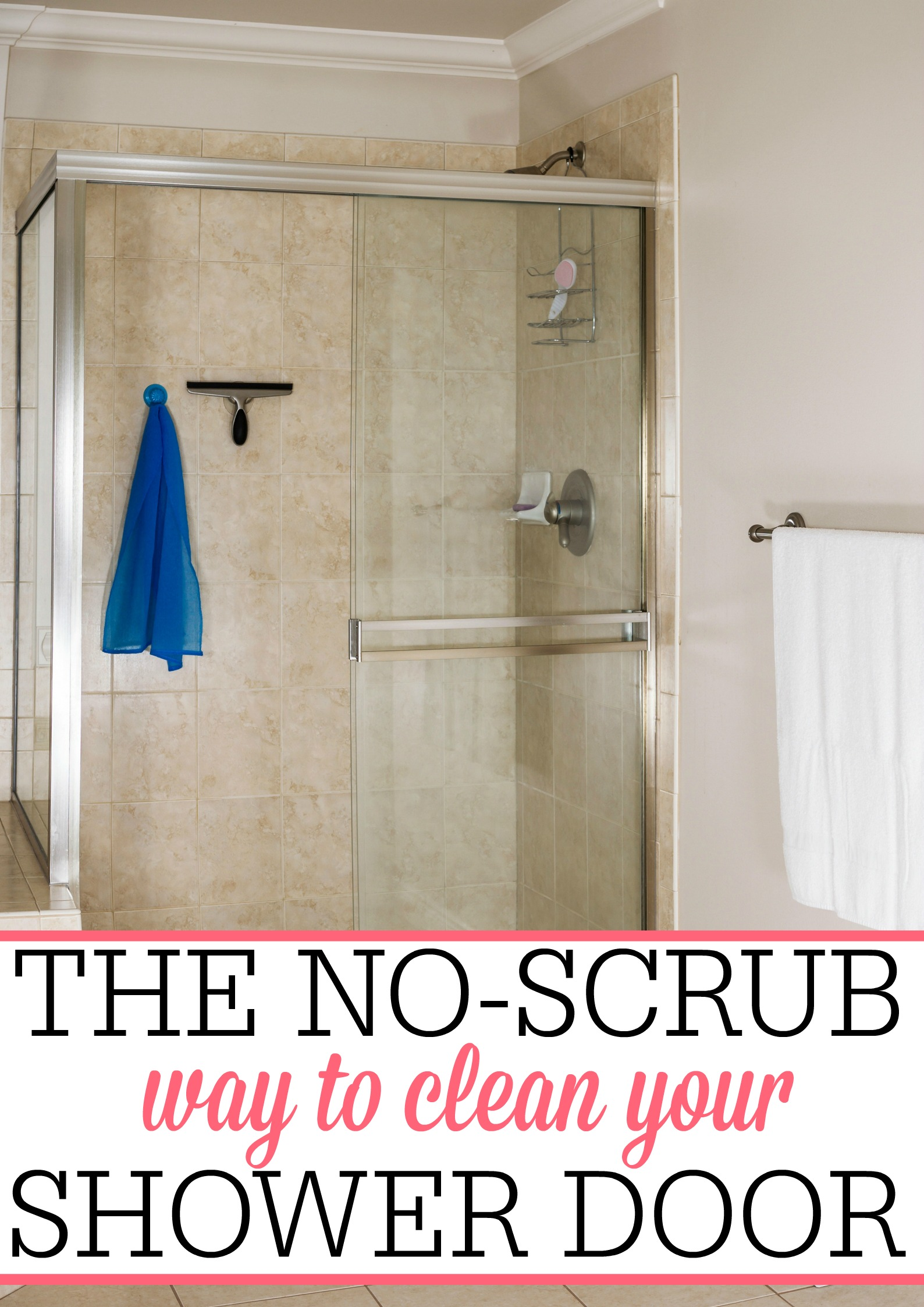 The No Scrub Way To Clean Your Shower Door Frugally Blonde