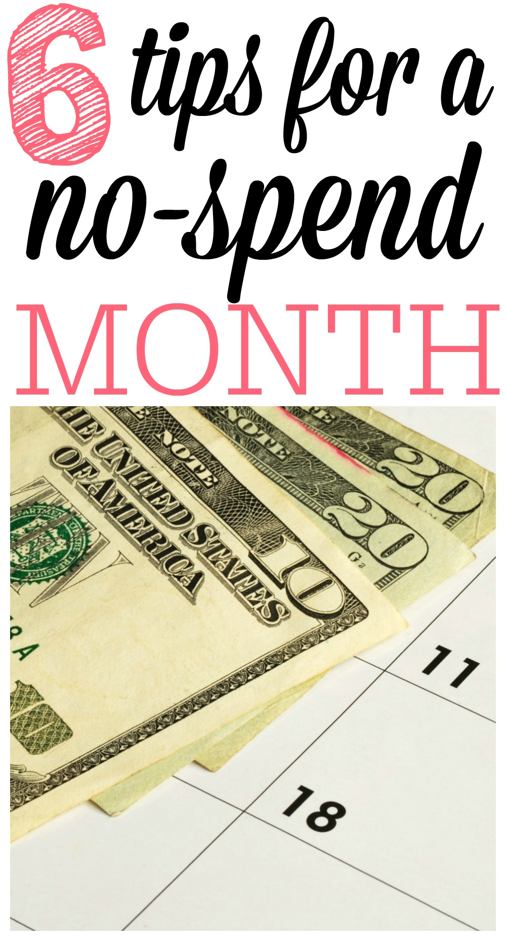 Tips for a Successful No Spend Month