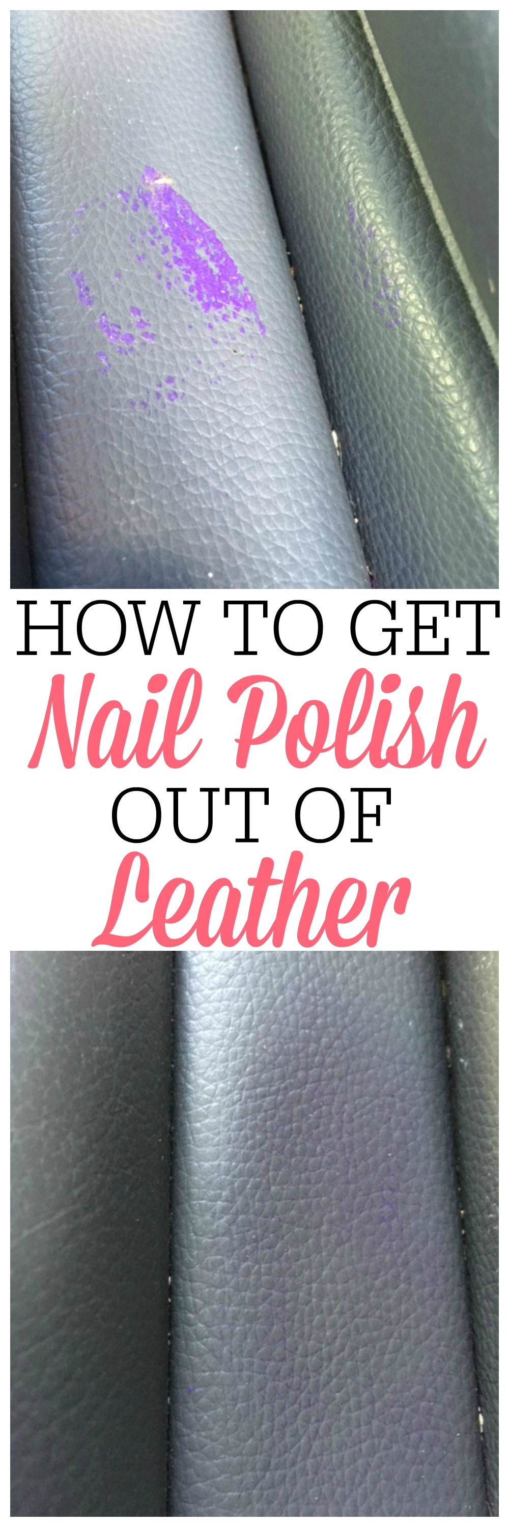 How To Get Nail Polish Out Of Leather Frugally Blonde