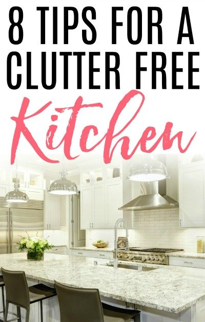 clutter free kitchen
