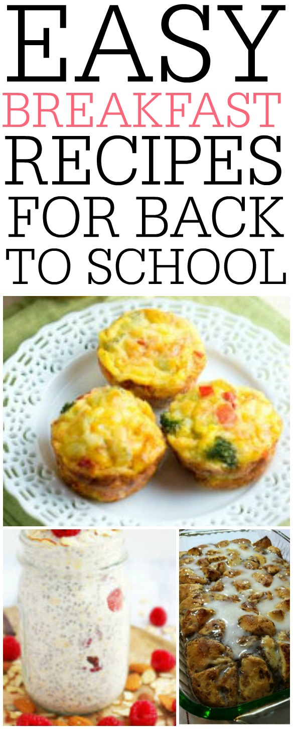 These easy breakfast recipes for back to school is a must pin. Your kids will love them and they are so easy to make! Keep your mornings easy with this fantastic recipes.