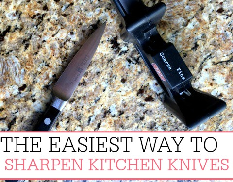 sharpen kitchen knives