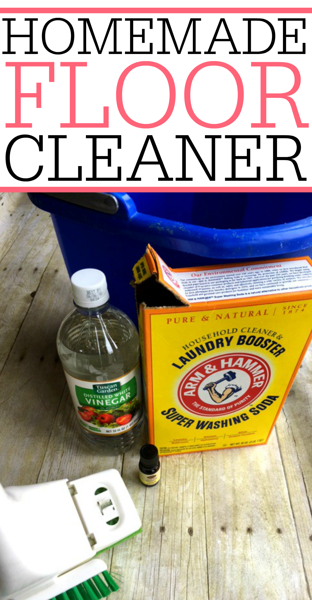 Get rid of dirt and grime easily with this homemade floor cleaner. It smells great and cleans better than the store brands. Spend less time cleaning with this easy mop solution.