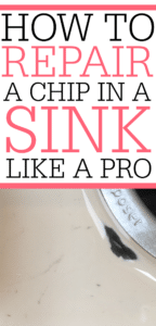 How To Fix A Chip In A Porcelain Sink