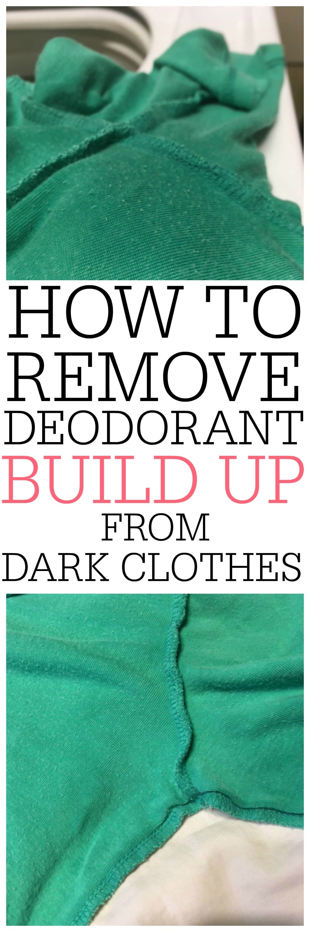 How To Remove Deodorant Build Up From Dark Clothes Frugally Blonde