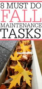 Must Do Fall Maintenance Tasks